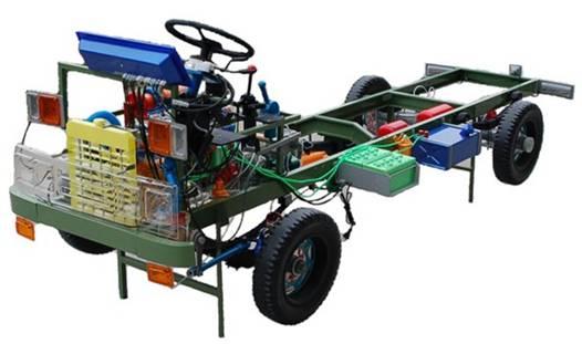东风EQ1118G型透明整车教学模型,汽车仿真教学模型