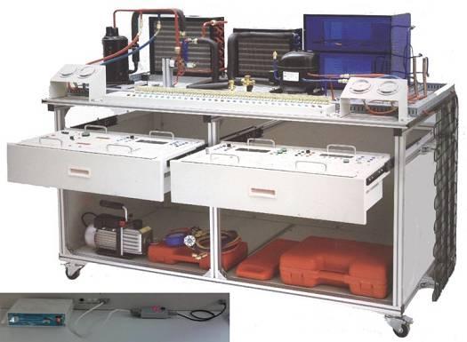 实训项目: 1、制冷工专用工具的使用 2、气焊焊枪的使用与焊接能力 3、空调制冷系统管路的组装能力 4、空调制冷系统的保压、检漏与制冷剂加充能力 5、空调控制电路的电气连接与调试能力 6、空调控制电路电气故障考核、故障分析与故障排除能力 7、电冰箱制冷系统管路的组装能力 8、电冰箱制冷系统的保压、检漏与制冷剂加充能力 9、东芝GR-204E直冷电子式电冰箱控制电路的电气连接与调试能力 10、东芝GR-204E直冷电子式控制电路电气故障考核、故障分析与故障排除能力 11、BCD-173GH智能温控电冰箱控制